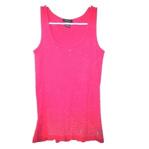 Pink and Silver Shimmery Tank Top